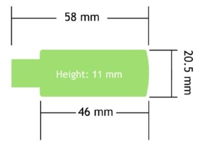 Rozměry přijímacího modulu T24-BSd