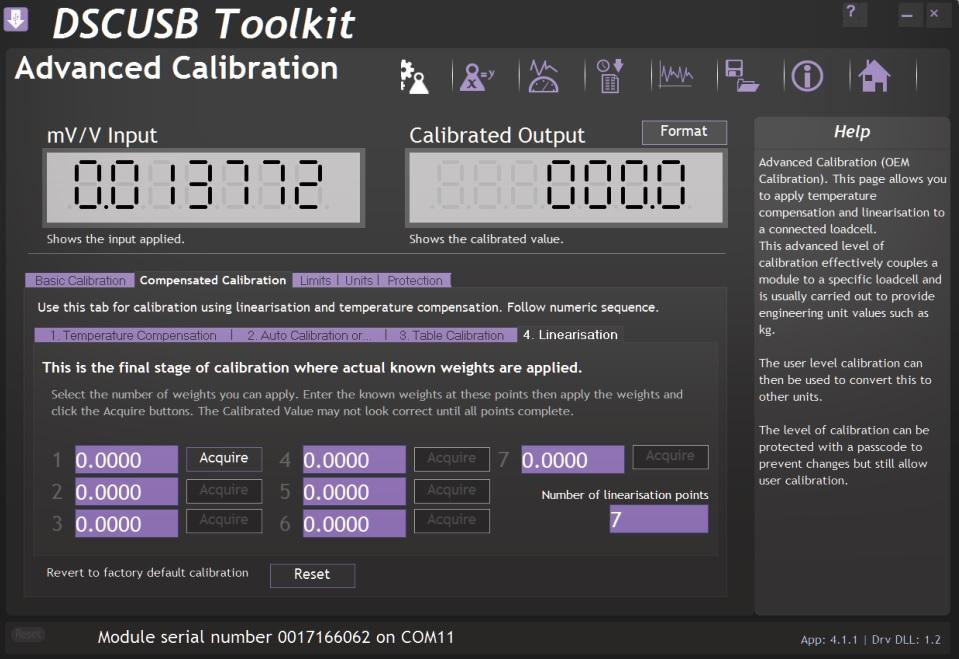 Převodník DSCUSB-PT - kalibrace